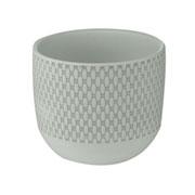 Cachepot em cerâmica Old Style branco 14x12 cm