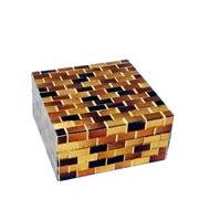 Caixa em MDF decorativa Multicolors 13x7 cm