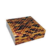 Caixa em MDF decorativa Multicolors 18x5 cm