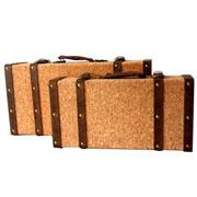 Jogo de malas decorativa em MDF Rústicos 02 peças