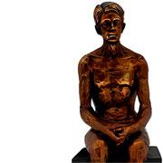 Escultura em resina homem bronze 10x28 cm