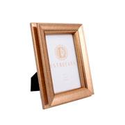 Porta retrato em MDF borda dupla dourado 10x15 cm