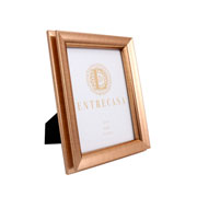 Porta retrato em MDF borda dupla dourado 15x20 cm