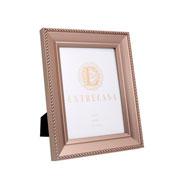 Porta retrato em MDF borda champagne 15x20 cm