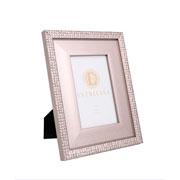 Porta retrato em MDF borda prata 10x15 cm