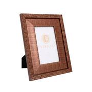 Porta retrato em MDF borda bronze 10x15 cm