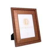 Porta retrato em MDF borda bronze 15x20 cm
