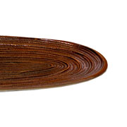 Centro de mesa oval de alumínio bronze 33x16 cm