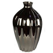Vaso em cerâmica prata 37 cm