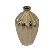 Vaso em cerâmica dourado 37 cm