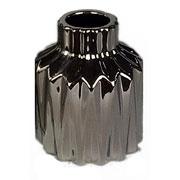 Vaso em cerâmica prata 15 cm