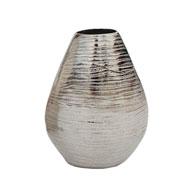 Vaso oval em alumínio prata 20 cm