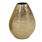 Vaso oval em alumínio dourado 20 cm