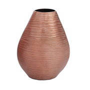 Vaso oval em alumínio cobre 20 cm
