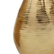 Vaso oval em alumínio dourado 22 cm