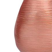 Vaso oval em alumínio cobre 22 cm