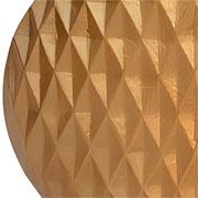 Vaso em alumínio dourado detalhe 3D 22 cm
