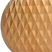 Vaso em alumínio dourado detalhe 3D 28 cm