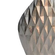 Vaso em alumínio prata detalhe 3D 31 cm