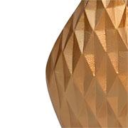 Vaso em alumínio dourado detalhe 3D 36 cm
