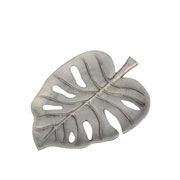 Bandeja em alumínio folha prata 23x16 cm