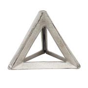 Escultura em alumínio triângulo prata 12x10 cm