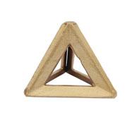 Escultura em alumínio triângulo ouro 12x10 cm