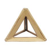 Escultura em alumínio triângulo ouro 16x13 cm