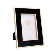 Porta retrato em MDF borda de veludo preto 10x15 cm