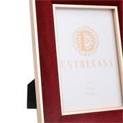 Porta retrato em MDF borda de veludo vinho 13x18 cm