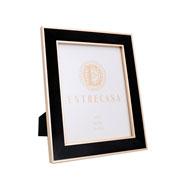 Porta retrato em MDF borda de veludo preto 20x25 cm