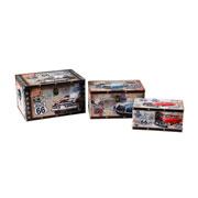 Jogo de caixas em MDF retangular Route 66 03 peças