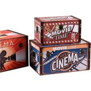 Jogo de caixas em MDF retangular cinema 03 peças