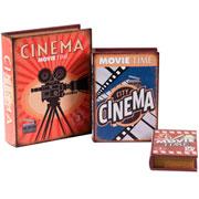 Jogo de livros em MDF cinema 03 peças