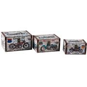 Jogo de caixas em MDF retangulares route 66 03 peças