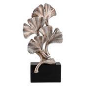 Escultura em resina com base folha prata 28 cm