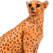 Escultura em resina leopardo caramelo 23 cm