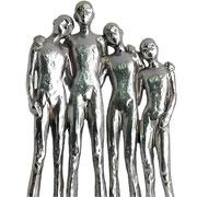 Escultura em resina família prata 28 cm