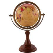 Globo em madeira com tripe 34 cm