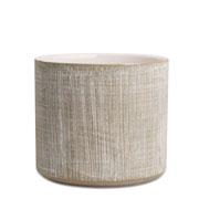 Cachepot em ceramica cinza 16 cm