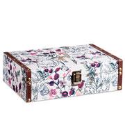 Caixa de madeira flowers 30x20 cm