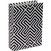 Livro caixa lines preto e branco 30x22 cm