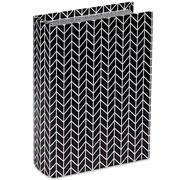 Livro caixa lines preto e branco 23x16 cm