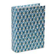 Livro caixa branco e azul 30x21,5 cm