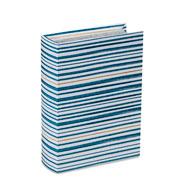 Livro caixa branco e azul 23x16,5 cm