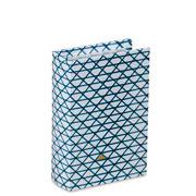 Livro caixa branco/azul 16x10,5 cm