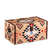 Baú de madeira bege colors 40x25 cm