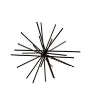 Enfeite em metal Ourico preto 18 cm