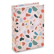 Livro caixa terrazo rosa 30x22 cm
