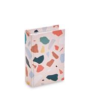 Livro caixa terrazo rosa 16x10 cm